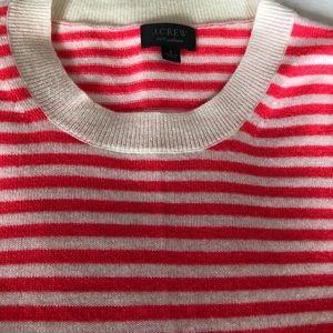 3981774f78e0b J. Crew Sweaters - STRIPED CREWNECK SWEATER IN EVERYDAY CASHMERE (s)